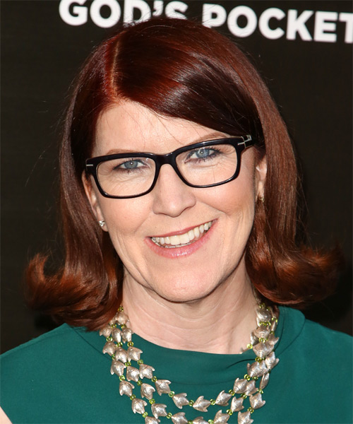 Kate Flannery Medium Straight Bob Hairstyle - Medium Red