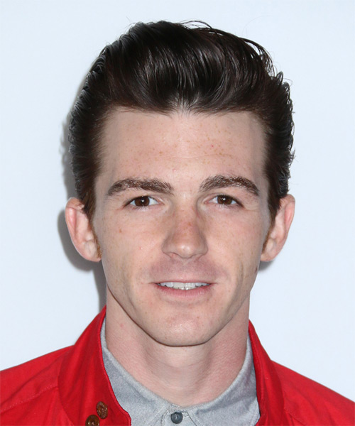 Drake Bell Short Straight Formal Hairstyle - Dark Brunette (Mocha) Hair Color