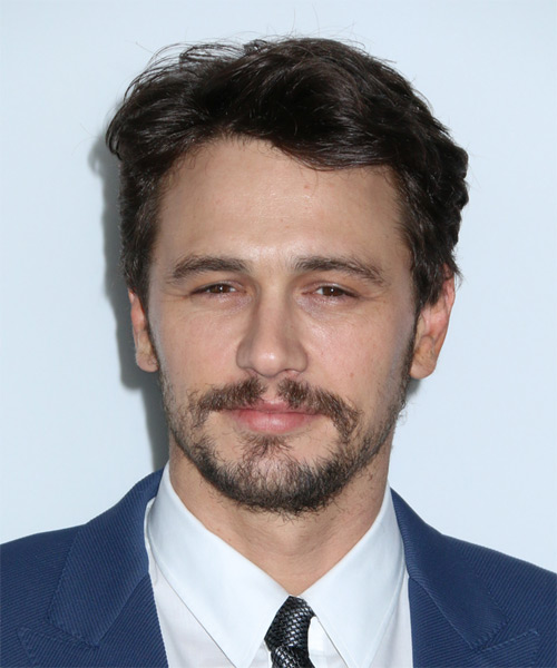 James Franco Short Straight Formal Hairstyle - Dark Brunette Hair Color