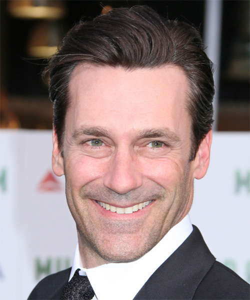 Jon Hamm Short Straight Formal Hairstyle - Medium Brunette Hair Color