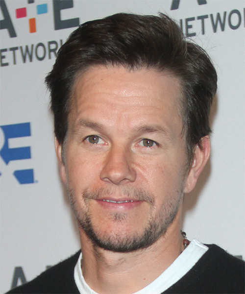Mark Wahlberg Short Straight Hairstyle - Dark Brunette (Ash)