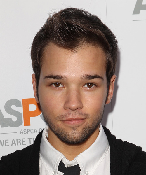 Nathan Kress Short Straight Casual Hairstyle - Medium Brunette (Chocolate) Hair Color