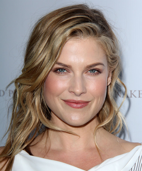Ali Larter Medium Straight Hairstyle - Dark Blonde