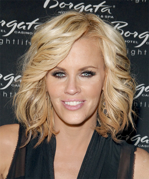 Jenny McCarthy Medium Wavy Casual Hairstyle - Medium Blonde Hair Color