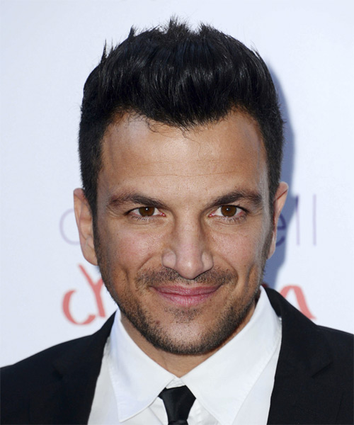 Peter Andre Short Straight Casual Hairstyle - Black Hair Color