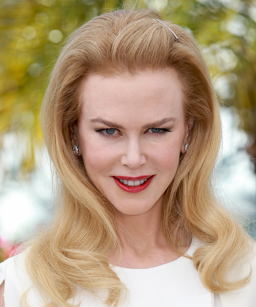 Nicole Kidman Long Straight Hairstyle - Light Blonde (Strawberry)