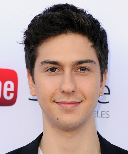 Nat Wolff Short Straight Hairstyle - Dark Brunette