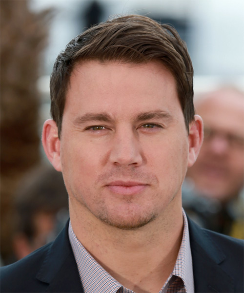 Channing Tatum Short Straight Formal Hairstyle - Medium Brunette Hair Color