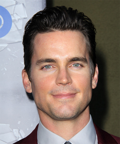 Matt Bomer Short Straight Formal Hairstyle - Dark Brunette Hair Color