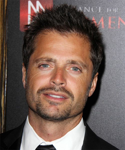 David Charvet Short Straight Hairstyle - Dark Brunette