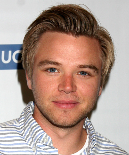 Brett Davern Short Straight Hairstyle - Dark Blonde (Golden)