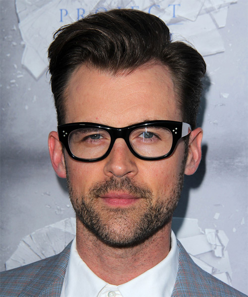 Brad Goreski Short Straight Hairstyle - Dark Brunette (Ash)
