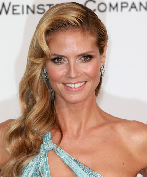 Heidi Klum Long Wavy Hairstyle - Dark Blonde