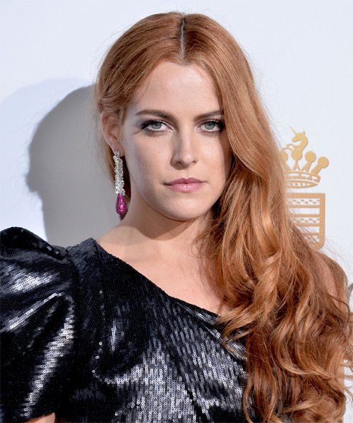 Riley Keough Long Wavy Hairstyle - Medium Blonde (Copper)