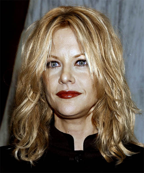 Meg Ryan Long Wavy Casual Hairstyle