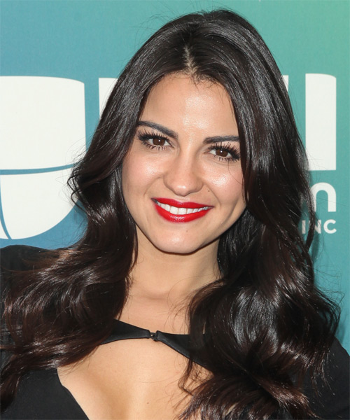 Maite Perroni Long Wavy Hairstyle - Black