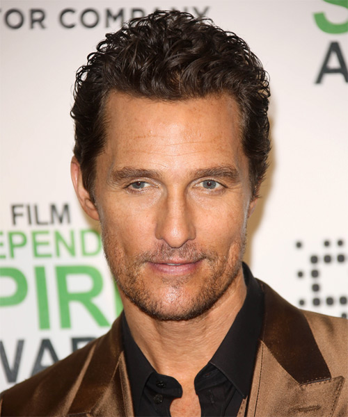 Matthew McConaughey Short Curly Casual Hairstyle - Medium Brunette (Chocolate) Hair Color
