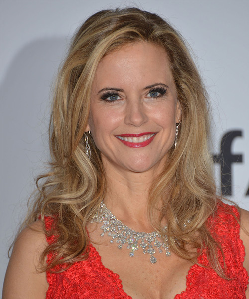 Kelly Preston Long Straight Casual Hairstyle Blonde Hair