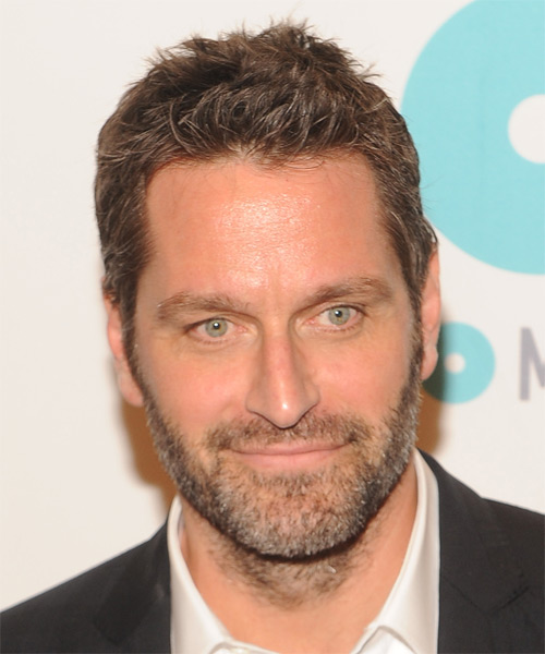 Peter Hermann Short Straight Hairstyle - Medium Brunette
