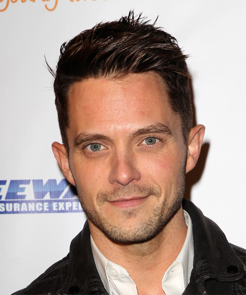 Eli Lieb Short Straight Casual Hairstyle - Dark Brunette (Mocha) Hair Color