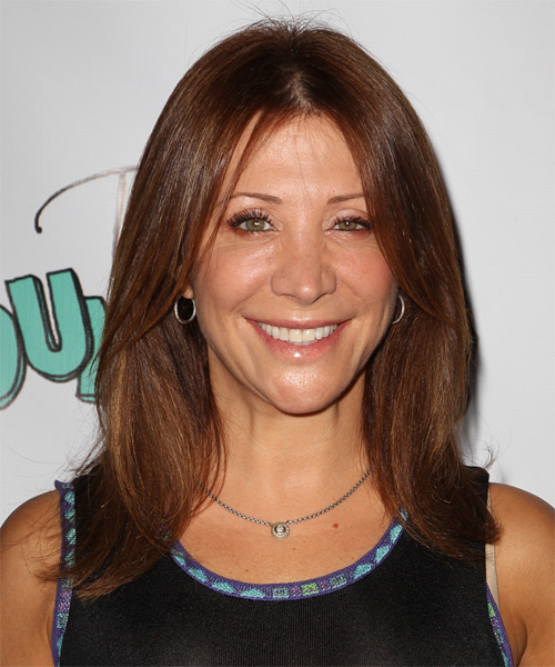 Cheri Oteri Medium Straight Hairstyle - Medium Brunette (Chestnut)