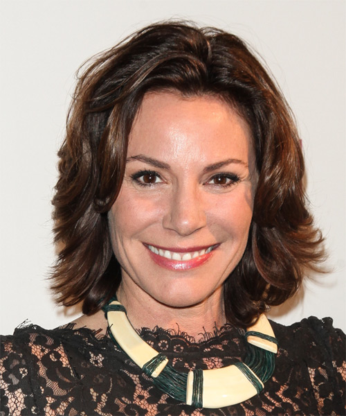 Countess LuAnn de Lesseps Medium Straight Hairstyle - Dark Brunette
