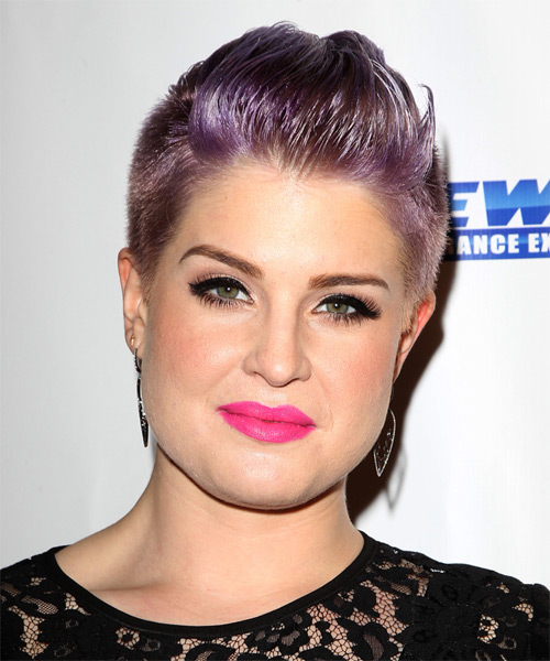 Kelly Osbourne Short Straight Hairstyle - Purple