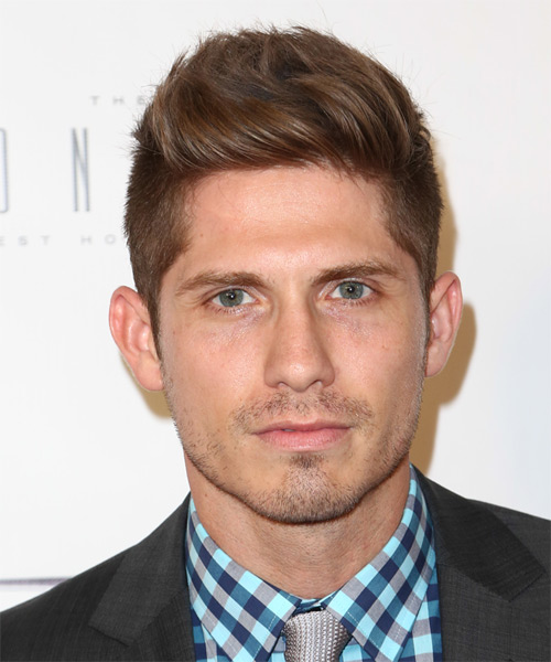 Jake Whetter Short Straight Casual Hairstyle - Medium Brunette Hair Color