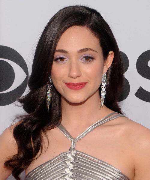 Emmy Rossum Long Wavy Hairstyle (Mocha)