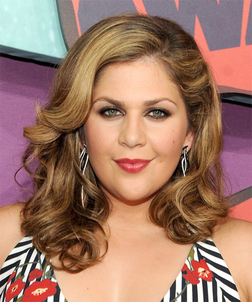Hillary Scott Medium Wavy Formal Hairstyle - Medium Brunette Hair Color