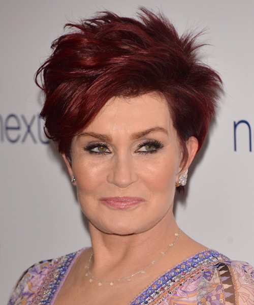 Sharon Osbourne Short Straight Casual  - Medium Red