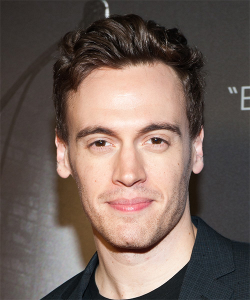 Erich Bergen Short Straight Hairstyle - Medium Brunette