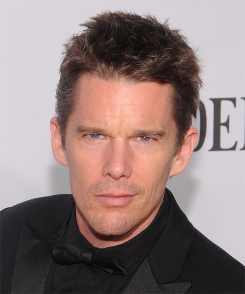 Ethan Hawke Short Straight Hairstyle - Medium Brunette