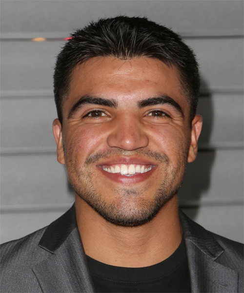 Victor Ortiz - Straight  Short Straight Hairstyle - Black