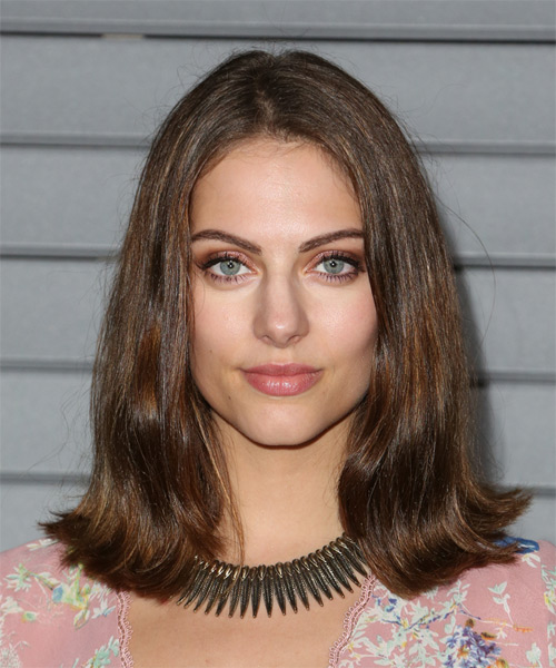Julia Voth Medium Straight Casual Hairstyle - Medium Brunette (Ash) Hair Color