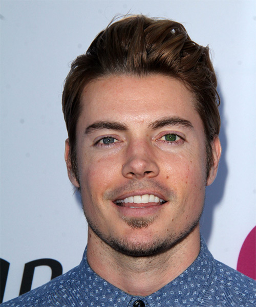 Josh Henderson Short Straight Casual Hairstyle - Medium Brunette Hair Color