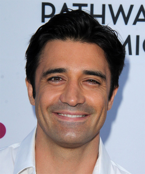 Gilles Marini Short Straight Casual Hairstyle - Black Hair Color