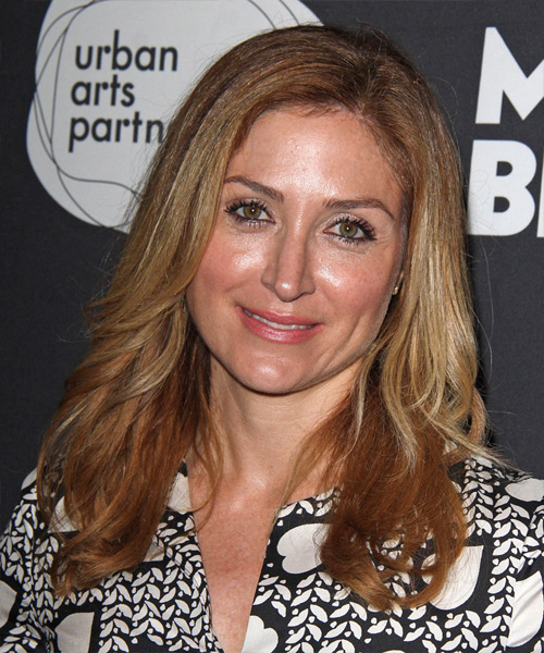 Sasha Alexander - Straight  Long Straight Hairstyle - Dark Blonde (Copper)
