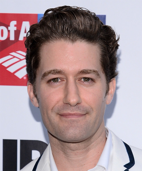 Matthew Morrison Short Wavy Casual Hairstyle - Medium Brunette