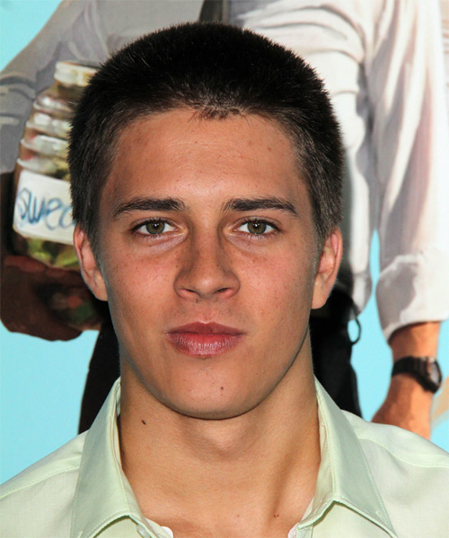 Billy Unger Short Straight Hairstyle - Medium Brunette (Ash)