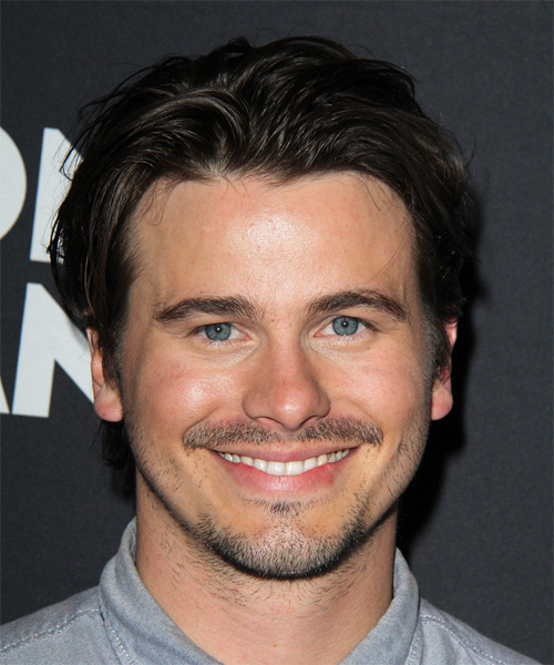 Jason Ritter Short Straight Casual Hairstyle - Black Hair Color