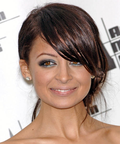 Nicole Richie Straight Casual Updo Hairstyle