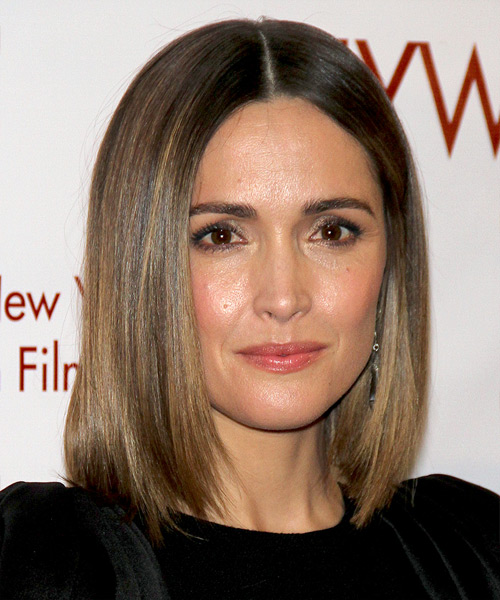 Rose Byrne Medium Straight Bob Hairstyle - Medium Brunette (Ash)
