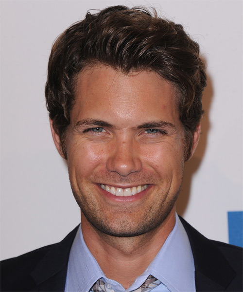 Drew Seeley Short Wavy Hairstyle - Dark Brunette