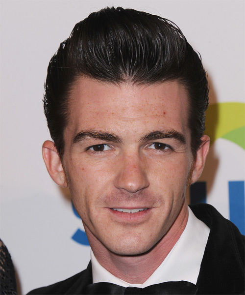 Drake Bell Short Straight Hairstyle - Black