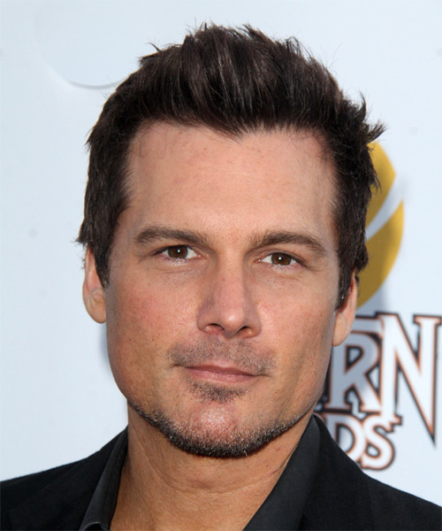 Len Wiseman Short Straight Casual Hairstyle - Dark Brunette Hair Color