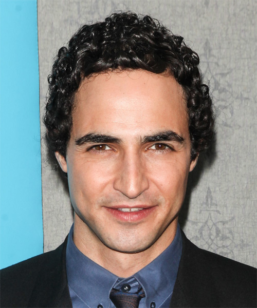 Zac Posen Short Curly Casual Hairstyle - Black Hair Color