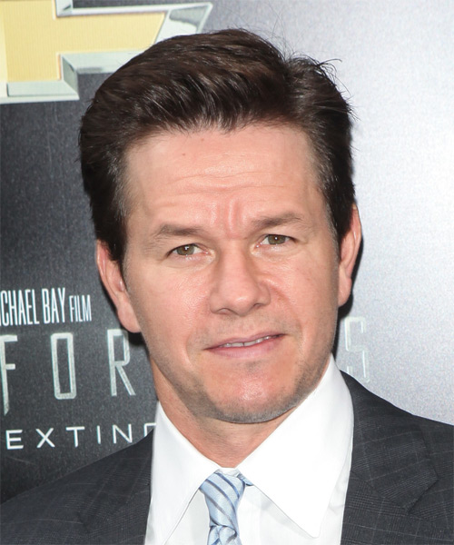 Mark Wahlberg Short Straight Hairstyle - Medium Brunette (Ash)