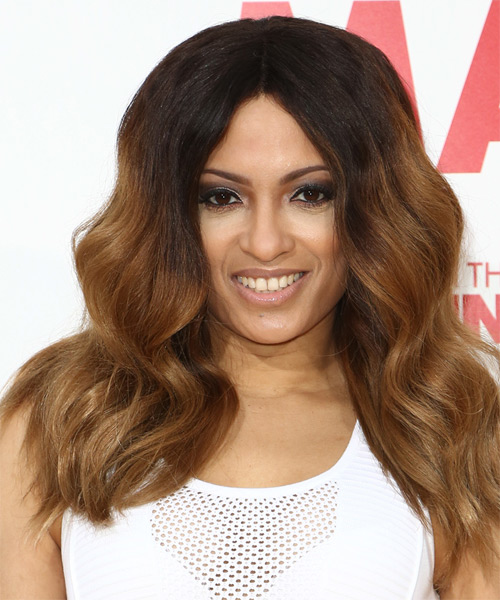 Melissa De Sousa Long Wavy Casual Hairstyle - Medium Brunette Hair Color