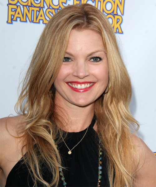 Clare Kramer Long Straight Hairstyle - Medium Blonde (Copper)